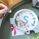 Personalised Birth Flower Porcelain Trinket Dish