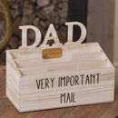 Personalised Home Office Dad's Mail Tidy
