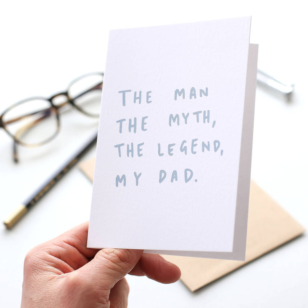 0ca9e1a9 the man the myth father's day card by old english company ...