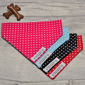 Polka Dot Pet Bandana - dogs