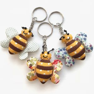 Bumble Bee Patchwork Keyring - decorative accessories