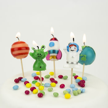 Space Birthday Cake Candles