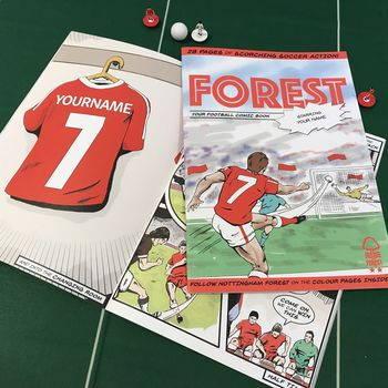 Personalised Nottingham Forest Football Club Comic Book