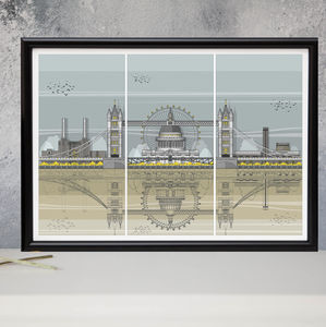 London Triptych Architectural Print - canvas prints & art