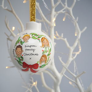 Personalised Family Christmas Bauble Decoration