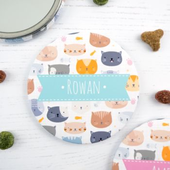 Personalised Cat Pocket Mirror
