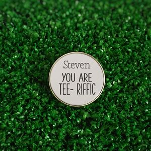 Personalised 'You Are Tee Riffic' Golf Ball Marker