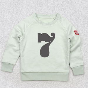 Age Seven Sweatshirt In Pink, Blue Or Neutral - t-shirts & tops