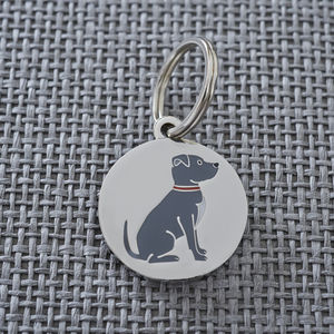Staffie Dog ID Name Tag - dogs