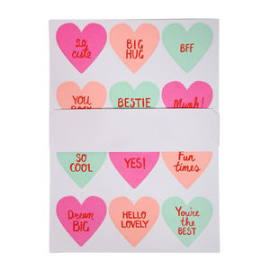 Love Heart Stickers - wrapping paper & gift boxes