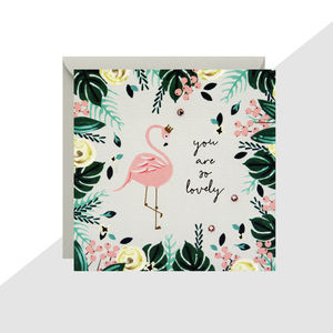 'You Are So Lovely' Flamingo Mini Card - sympathy & sorry cards
