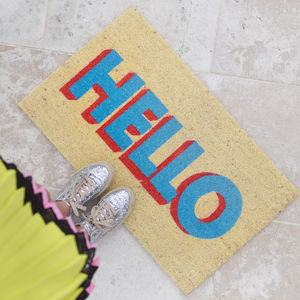 Hello Door Mat - rugs & doormats