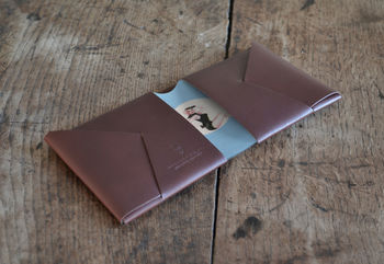 Vintage Style Leather Wallet Stewardess Pinup