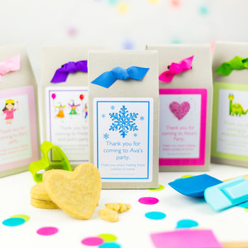 Personalised Biscuit Baking Mix Party Bags