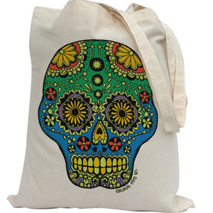 Tote Bag To Colour In With Skull - shoulder bags