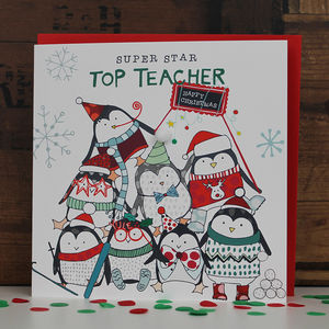 Top Teacher Christmas Card