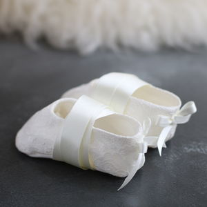 Amelia Christening Booties - christening wear
