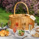 Personalised Wine Chiller Picnic Hamper And Flutes