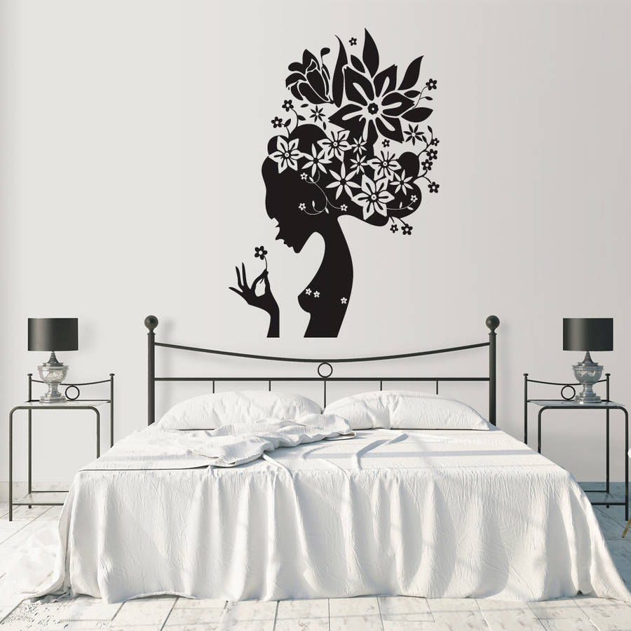 Girls wall stickers flower girl wall stickers amipublicfo Images