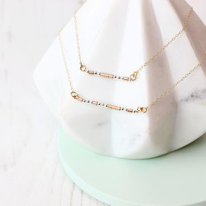 Morse Code Necklace 14k Gold Fill And Sterling Silver - necklaces & pendants