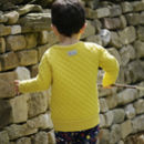 Mustard Yellow Quilted Kids Sweatshirt