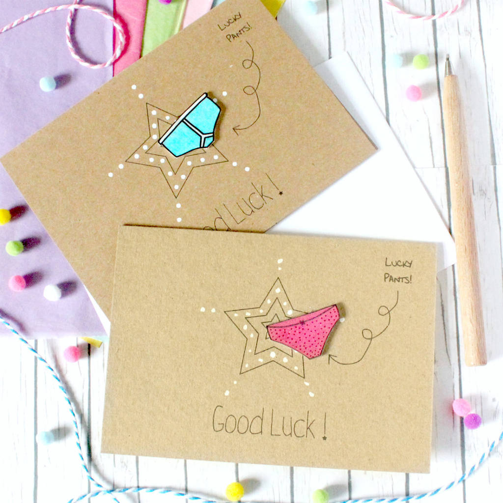 9695ae875256 personalised good luck card with lucky pants by little silverleaf ...
