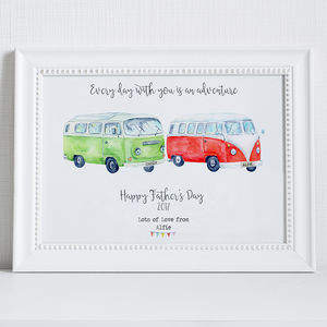 Personalised Camper Vans Father's Day Print
