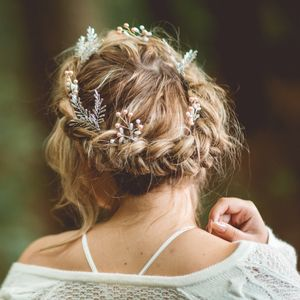 Mia Rose Gold Pearl Hair Pin - bridal hairpieces