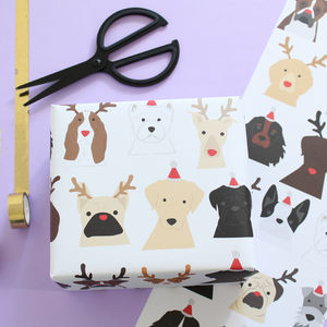Christmas Dog Wrapping Paper - wrapping paper