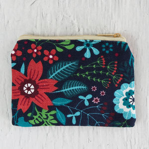 Wildflower Print Coin Purse
