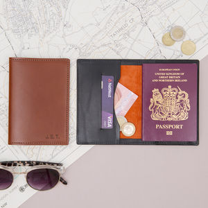 Personalised Luxury Leather And Suede Passport Wallet - weekend break travel accessories