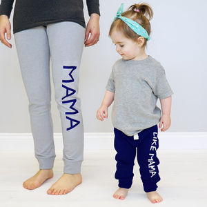 Personalised Mama And Me Sweatpants Set - parent and child sets