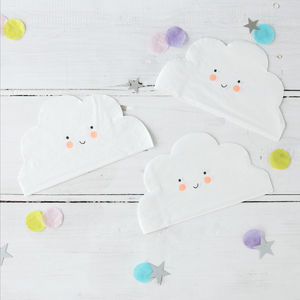 Baby Shower Cloud Paper Napkins - baby care