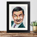 Official Mr. Bean Framed Print By Sidney Maurer