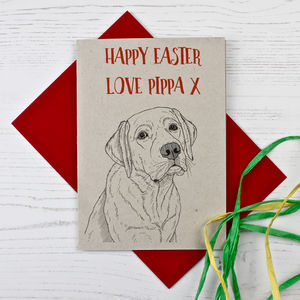 Labrador Dog Easter Card