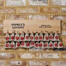 Personalised Christmas Advent Calendar Plaque