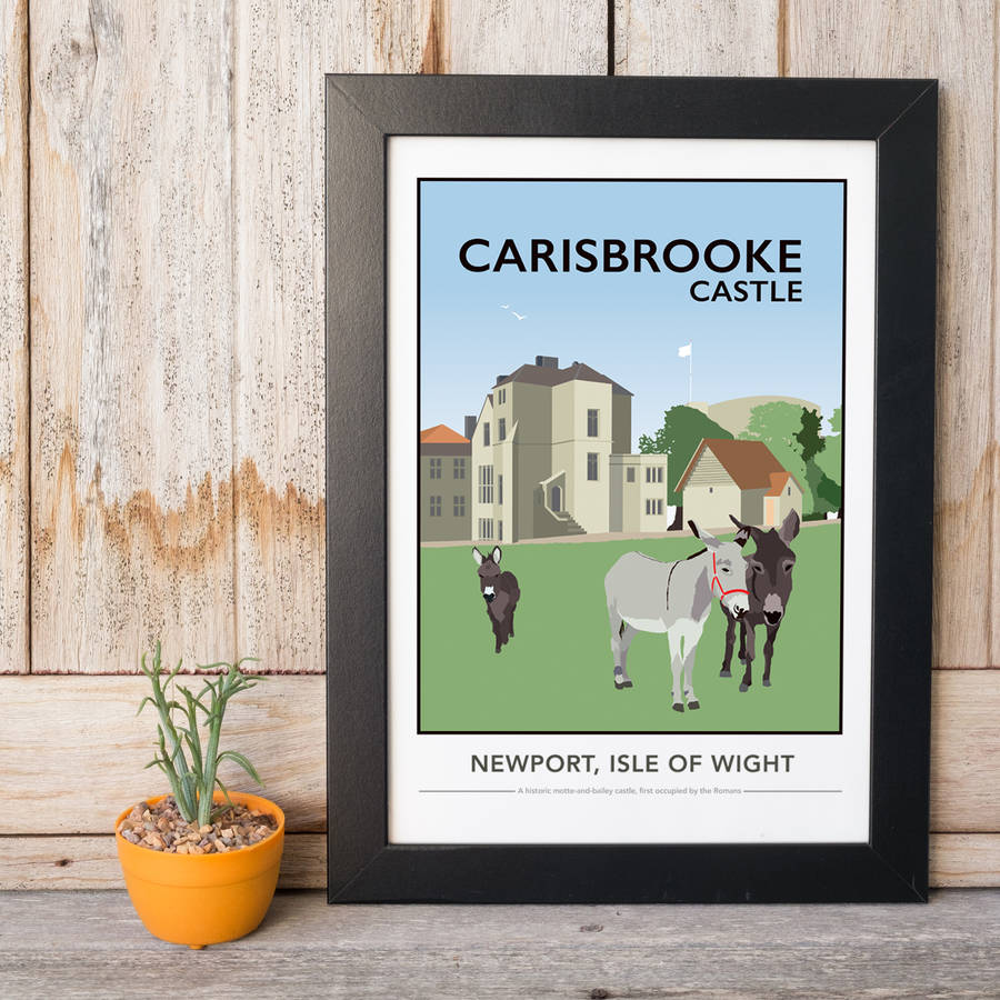 Carisbrooke Castle, Isle Of Wight Print