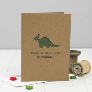Have A Roarsome Birthday Card - birthday cards