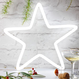 Neon Light Up LED Star Sign - children's room accessories