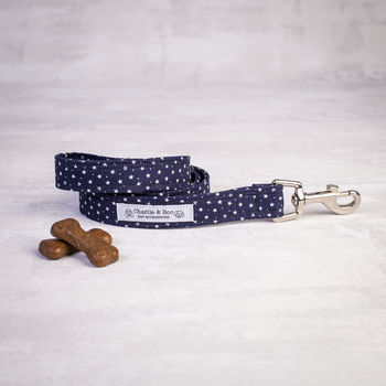 Navy Star Dog Lead/Leash For Girl Or Boy Dogs