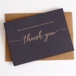 Thank You Foil Card - new in christmas