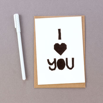 'I Heart You' Luxury Paper Valentine's Day Card