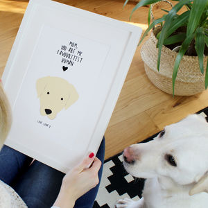 Personalised Favourite Human Dog Print