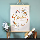 Personalised Christmas Cotton Print