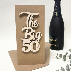 Personalised 'The Big 50' Birthday Card
