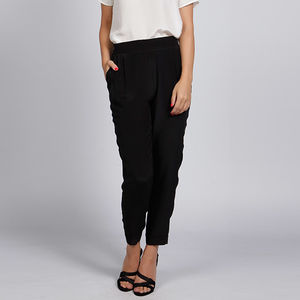 Viola Relaxed Fit Silk Trousers