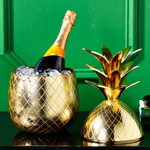 Large Gold Pineapple Champagne Bucket - gifts for her