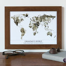 Personalised Grandad's World Photograph Map
