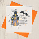 Haunted House Handmade Halloween Card
