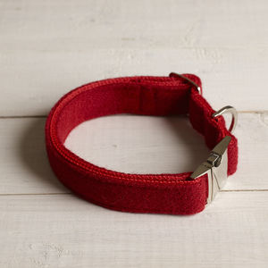 Elspeth Harris Tweed Dog Collar - dog collars